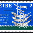 Postage stamp Ireland 1987 Three Ships, Chamber Crest — Stock Photo