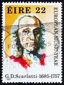 Postage stamp Ireland 1985 Giuseppe Domenico Scarlatti, Composer — Stock Photo