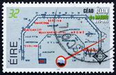 Postage stamp Ireland 1995 Radio Channel Dial — Stock Photo