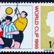 Postage stamp GB 1966 Goalkeeper and Two Soccer Players - Stock Photo