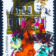 Stock Photo: Postage stamp GB 1968 Girl Playing with Dolls and Dollhouse