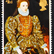 Postage stamp GB 1968 Elizabeth I, artist unknown — Stock Photo