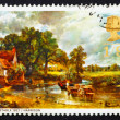 Stock Photo: Postage stamp GB 1968 Hay Wain, by John Constable