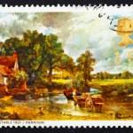 Постер, плакат: Postage stamp GB 1968 The Hay Wain by John Constable
