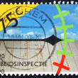 Postage stamp Netherlands 1989 Assessing Work Conditions — Stock Photo