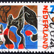 Postage stamp Netherlands 1987 Fallen Horse, Painting by Constan — Stock Photo #9466818