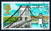 Postage stamp GB 1968 Menai Bridge, North Wales — Stock Photo