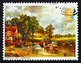 Postage stamp GB 1968 The Hay Wain, by John Constable — Stock Photo