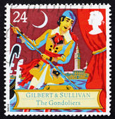Postage stamp GB 1992 Scene from comic opera — Stock Photo