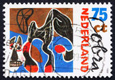 Postage stamp Netherlands 1987 Fallen Horse, Painting by Constan — Stock Photo