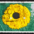 Postage stamp GB 1995 Springtime, by Andy Goldsworthy — Stock Photo