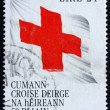 Postage stamp Ireland 1989 Flag with Red Cross — Stock Photo
