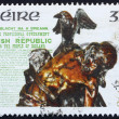Postage stamp Ireland 1991 Statue of Cuchulainn by Oliver Sheppa — Stock Photo