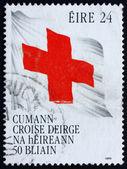 Flaga Irlandii 1989 znaczek z Czerwonego Krzyża — Zdjęcie stockowe