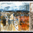 Postage stamp GB 1971 Mountain Road, by T.P. Flanagan — Stock Photo