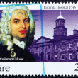 Stock Photo: Postage stamp Ireland 1995 Dr. Bartholomew Mosse, RotundHospit