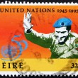 Stock Photo: Postage stamp Ireland 1995 UN Soldier