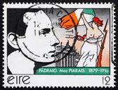 邮票爱尔兰 1979年帕特里克 · 亨利 · 皮尔斯 — 图库照片