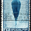 Stock Photo: Postage stamp Belgium 1992 Auguste Piccard's Balloon