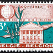 Stock Photo: Postage stamp Belgium 1961 Senate Building, Brussels, Laurel and