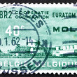 Postage stamp Belgium 1961 Atomic Reactor Plant, BR2, Mol — Stock Photo