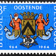 Postage stamp Belgium 1964 Arms of Ostend, Millennium of Ostend - Stock Photo