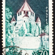 Postage stamp France 1964 Caesar's Tower, Provins, France - Stock Photo