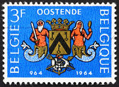 Postage stamp Belgium 1964 Arms of Ostend, Millennium of Ostend — Stock Photo