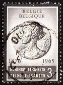 Postage stamp Belgium 1965 Queen Elisabeth, Queen of England — Stock Photo