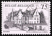 Postage stamp Belgium 1993 Castle Cortewalle, Beveren, Belgium — Stock Photo