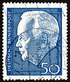 Postage stamp Germany 1967 Heinrich Lubke — Stock Photo