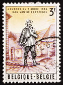 Postage stamp Belgium 1966 Rural Mailman, 19th Century — Stock Photo