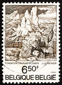 Postage stamp Belgium 1976 St. Jerome in the Mountains, by Le Pa — Stock Photo