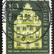 Postage stamp Germany 1957 Landschaft Building, Stuttgart — Stock Photo