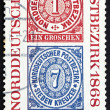 Postage stamp Germany 1968 Reproduction of stamps — Stock Photo
