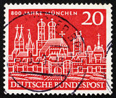 Postage stamp Germany 1958 View of Old Munich — Stock Photo
