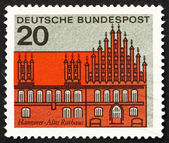 Postage stamp Germany 1964 Old Town Hall, Hanover — Stock Photo