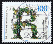Postage stamp Germany 1990 Riesling Vineyards, Germany — Stock Photo
