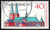 Postage stamp Germany 1973 Lubeck Cathedral — Stock Photo