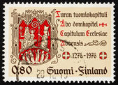 Postage stamp Finland 1976 Turku Chapter Seal — Stock Photo