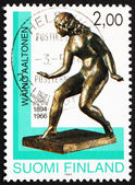 Postage stamp Finland 1994 Muse, Sculpture by Waino Aaltonen — Stock Photo