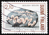 Postage stamp Finland 1986 Veined Gneiss — Stock Photo