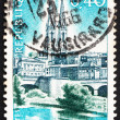 Postage stamp France 1966 St. Andrew's and Sevre River, Niort - ストック写真