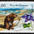 Postage stamp France 1996 Beaver, National Park, Cevennes, Franc - Stock Photo