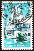 Postage stamp France 1966 St. Andrew's and Sevre River, Niort — Stock Photo