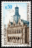 Postage stamp France 1967 City Hall, Saint-Quentin, France — Stock Photo