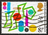 Postage stamp GB 1977 Steroids Conformational Analysis — Stock Photo