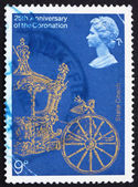 Postage stamp GB 1978 Gold State Coach — Stock Photo