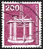 Postage stamp Germany 1982 Oil Drilling Platform — Stock Photo