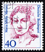 Postage stamp Germany 1988 Maria Sibyilla Merian, Naturalist, Pa — Stock Photo
